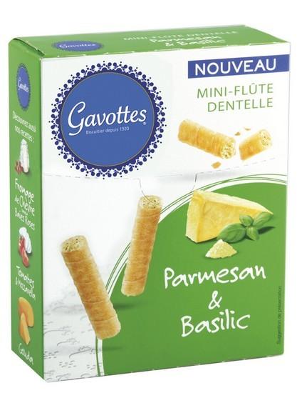 Gavottes salées Parmesan Basilic