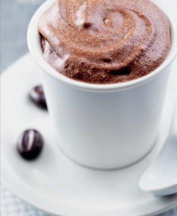Mousse au chocolat grain de café