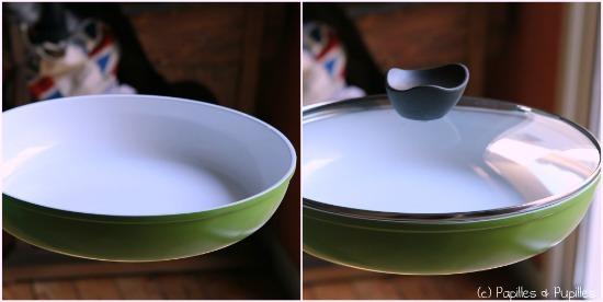 Poêle céramique avec et sans couvercle