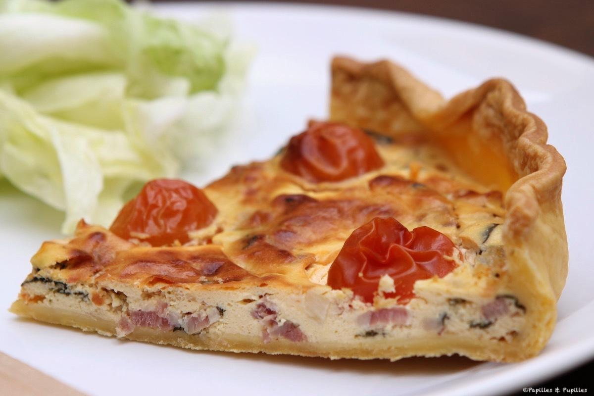 Quiche aux épinards et au fromage frais