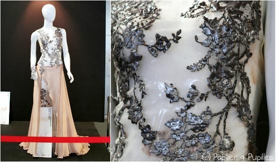 Robe de mariée rebrodée en chocolat - Philippe Andrieu