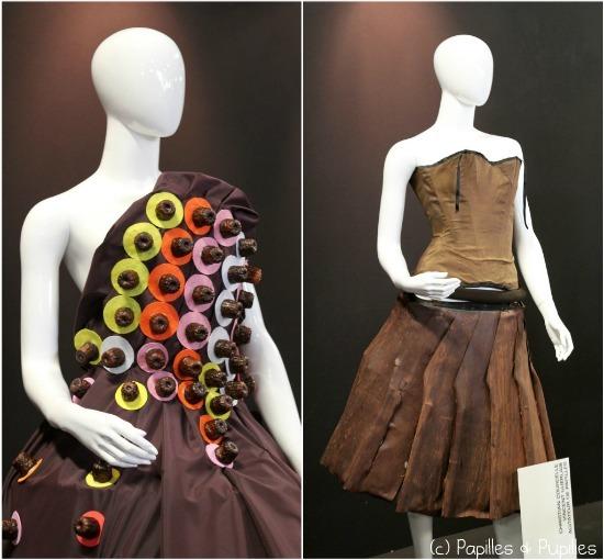 Robes en chocolat (cannelés et plissée)
