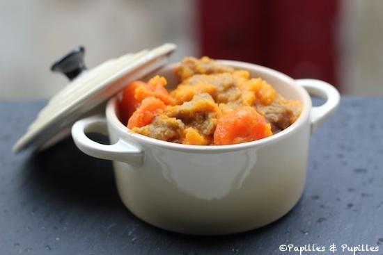 Sauté de veau aux carottes, au cumin et à l'orange