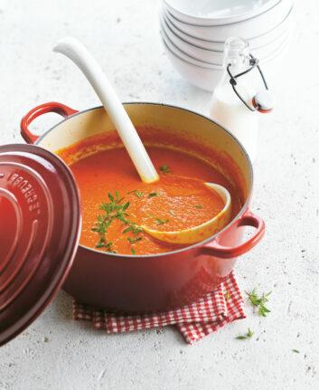 Soupe aux poivrons grillés
