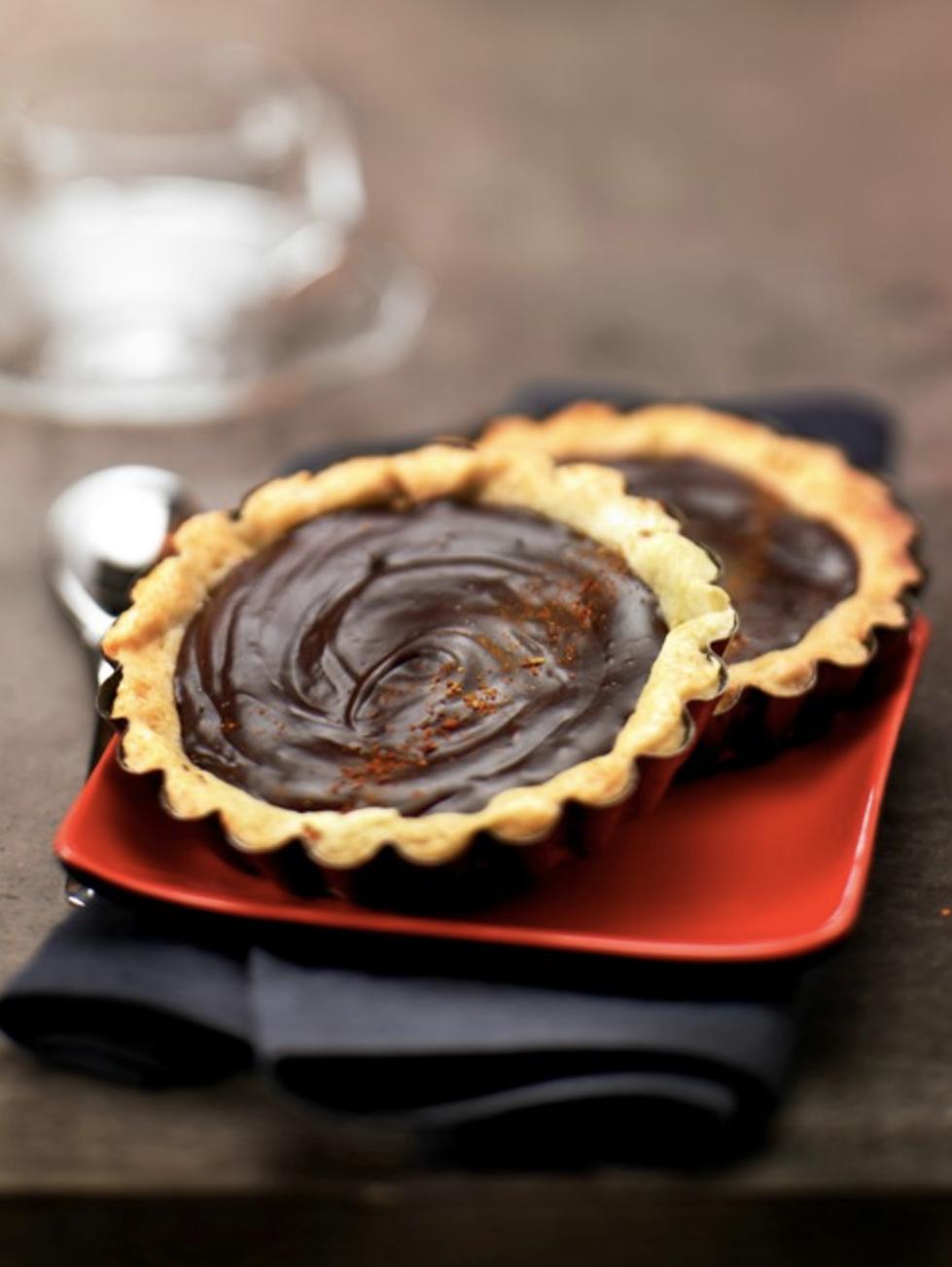 Tartelettes chocolat piment d'Espelette