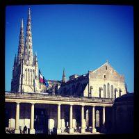 Cathédrale et cour de la mairie #bordeaux