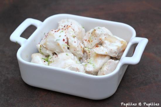 Blanc de poulet au yaourt et au citron vert