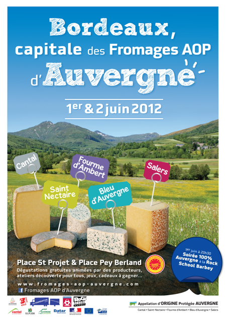 Bordeaux capitale des fromages d'Auvergne