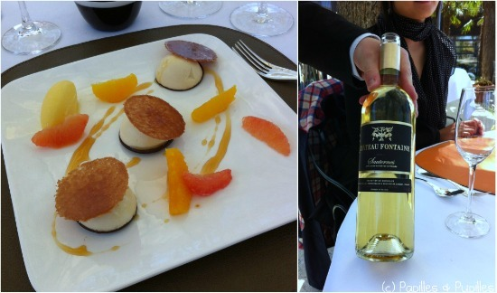 Dessert Agrumes et Sauternes