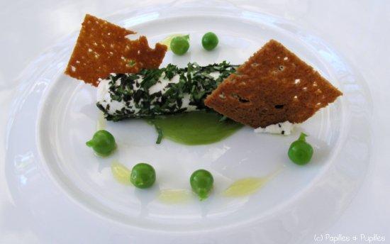 Fromage de chèvre au basilic