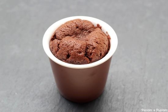 Gâteau au chocolat sans gluten version individuelle