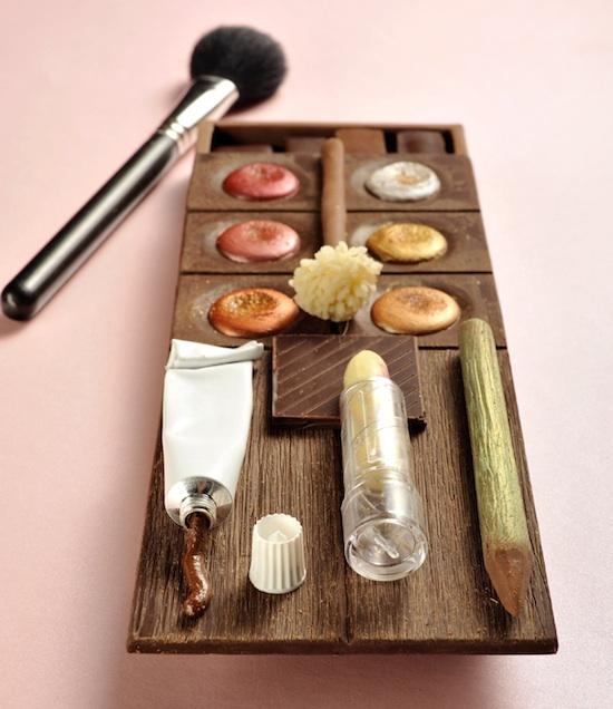 Palette de maquillage en chocolat Christophe Roussel