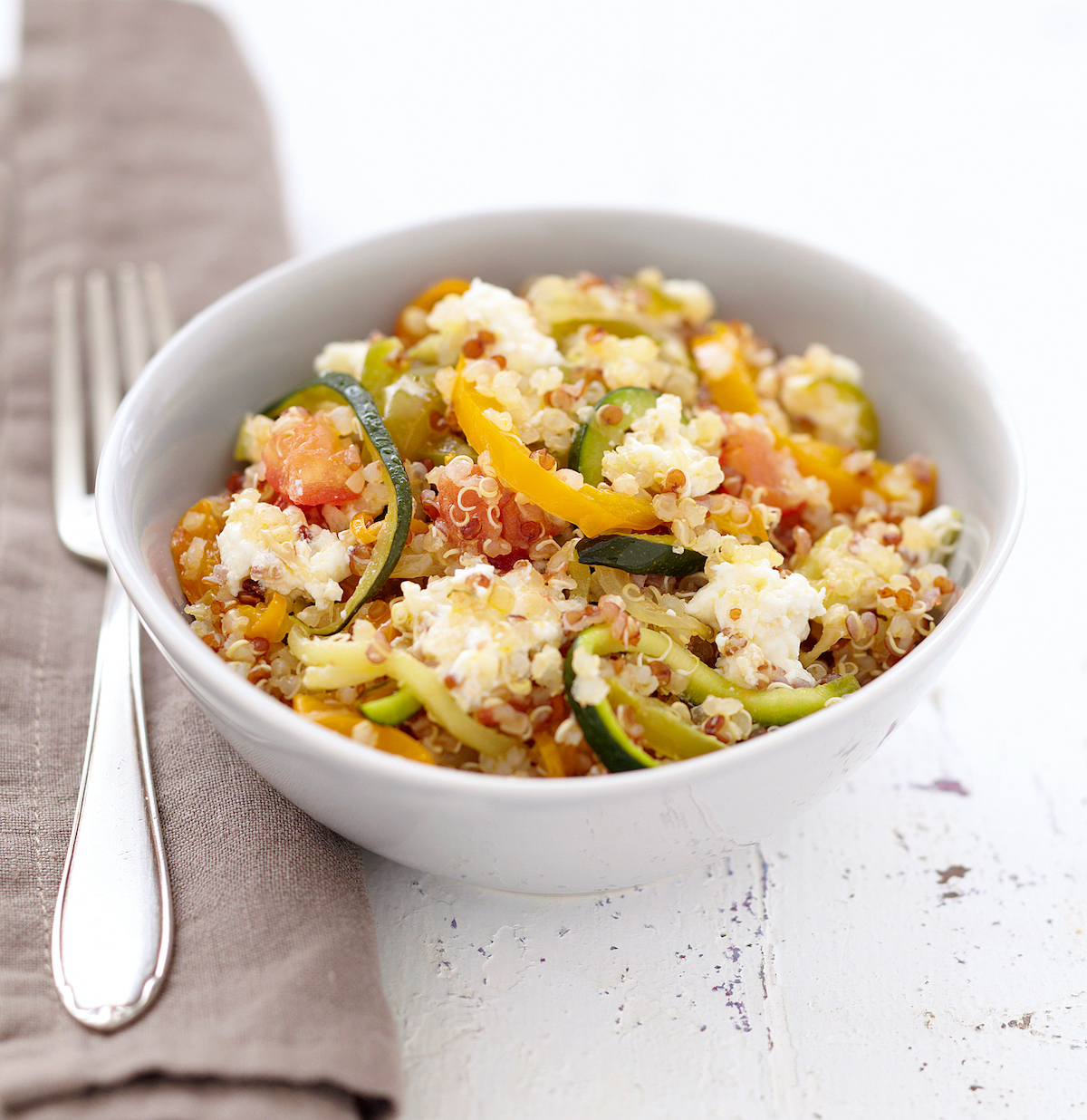 Poêlée de légumes au quinoa et au Carré Frais