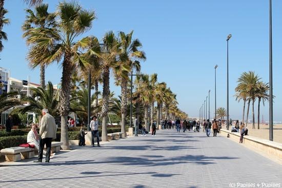 Promenade plage de la Malvarossa, Valencia
