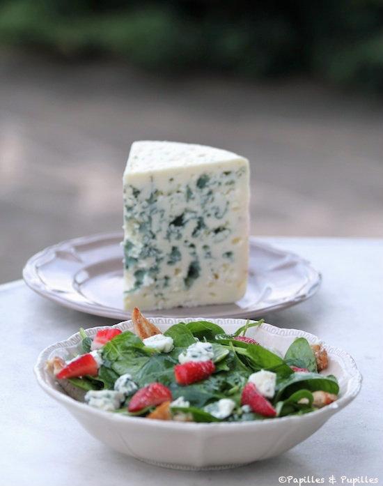 Salade fraise Roquefort