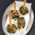 Sucette de saumon au yuzu