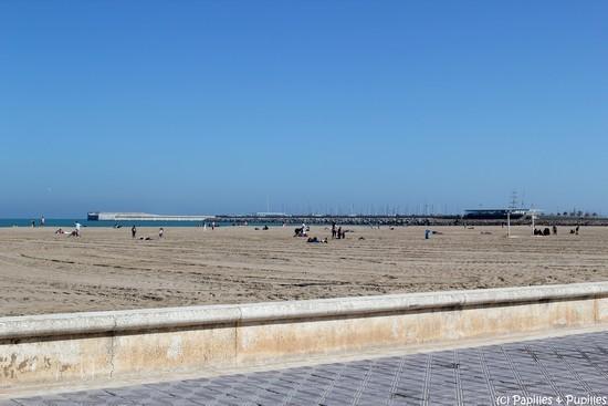 la mer Méditerranée, plage de la Malvarossa, Valencia