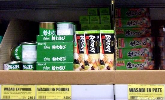 wasabi en poudre - Wasabi en pâte