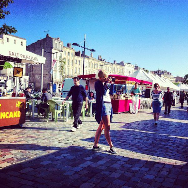 Grand beau temps au marche ce matin #bordeaux