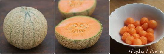Du melon aux billes de melon