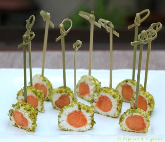 Melon enrobé de poudre de pistaches