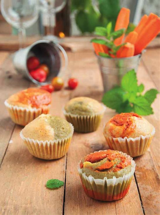 Petits cakes marbrés apéritifs à la vapeur