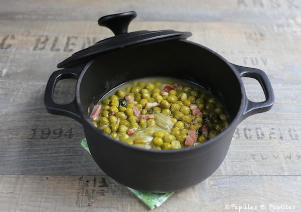 Recette de petits pois petits pois la fran aise - Cuisiner les petits pois frais ...