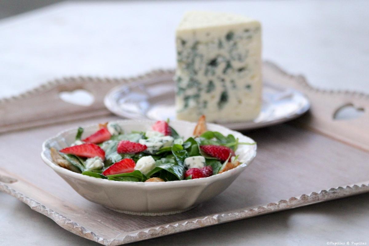 Salade Roquefort fraises