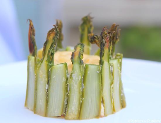 Terrines d'asperges vertes à la Ricotta