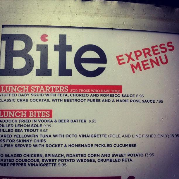 Un menu express un peu hum hum