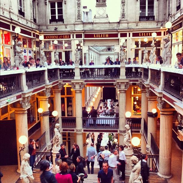 Le dîner secret d'Alexandre Couillon et de David Toutain a lieu dans un endroit magique : le Passage Pommeraye à Nantes #lvan
