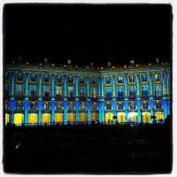 #bordeaux - la place de la Bourse est toute bleue ! Superbe
