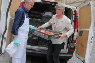 Alain Passard réceptionne les légumes