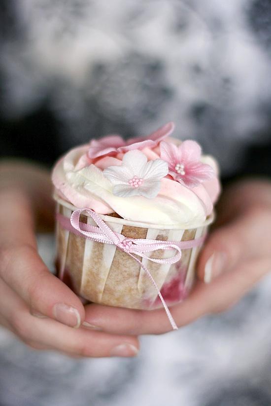 Cupcake fraise cardamome