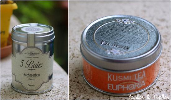 Poivre 5 baies Terre Exotique et Thé Euphoria de chez Kusmi Tea