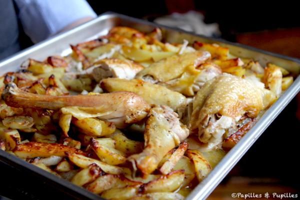 Poulet Roti Et Pommes De Terre Au Four