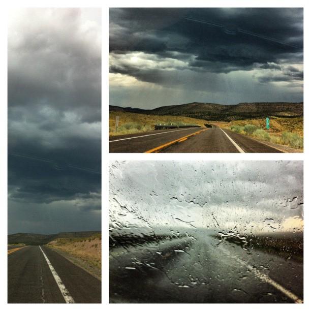 Storm on the road 66 #arizona