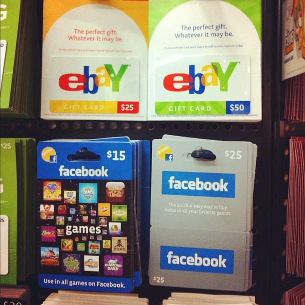 Découvre les cartes prépayées eBay et Facebook