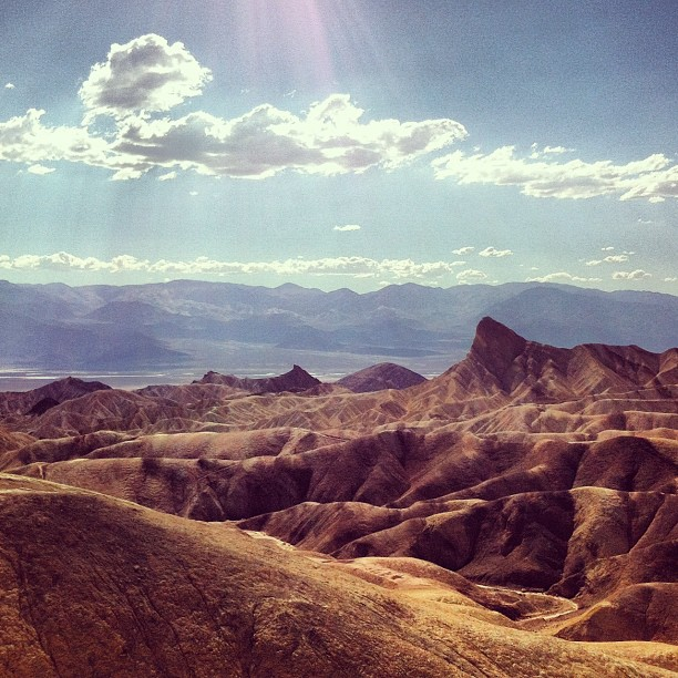Zabriskie point #deathvalley
