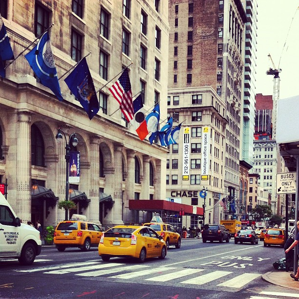 Yellow cabs - Fifth avenue, New York