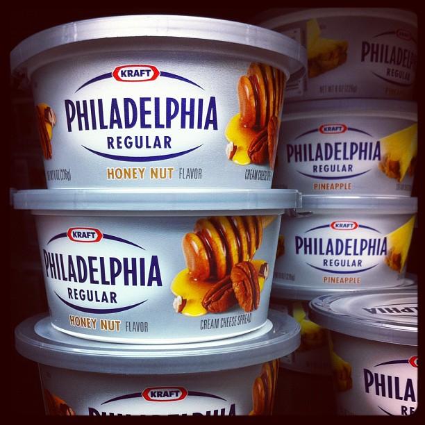 Philadelphia miel noix, je goûterai bien