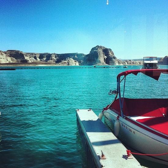 En bateau sur le Lac Powell