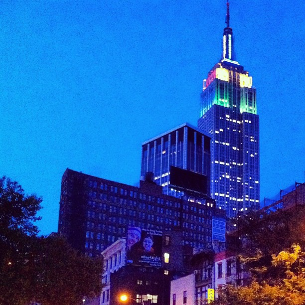 The Empire State Building by night #newyork