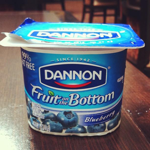 Même les yaourts sont supersize - contenance 170g (6oz) - fou non ?