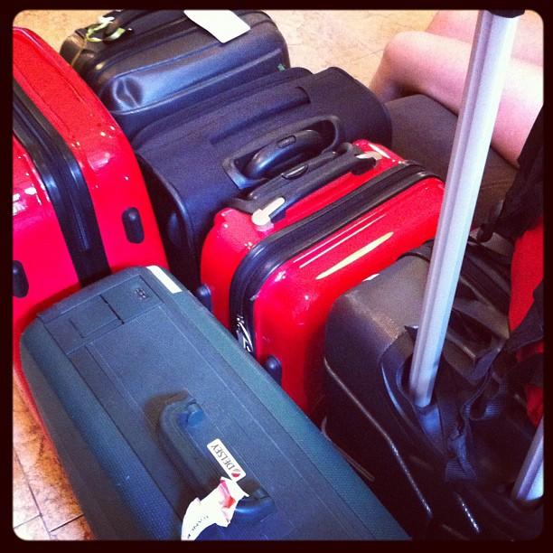 Hum hum environ 100kg de bagages #crazy