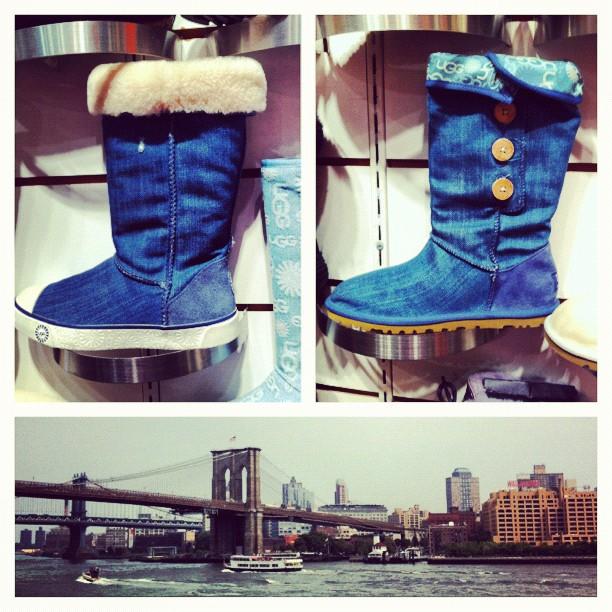 Les UGG en jean seront à la mise cet hiver à #newyork