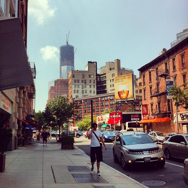 La Freedom Tower (ou one world trade center) vie depuis ChinaTown #newyork