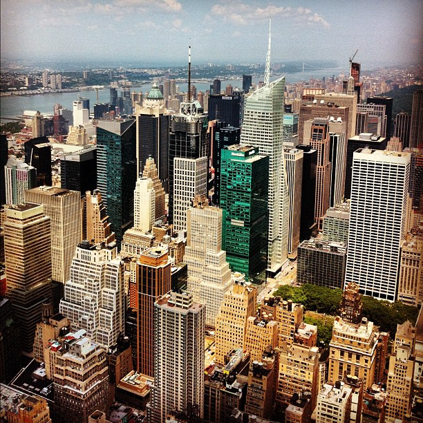 Upper Manhattan - du haut de l'Empire State Building
