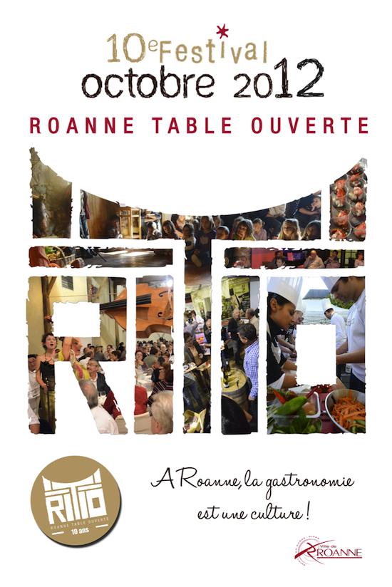 Affiche Roanne Table Ouverte 2012
