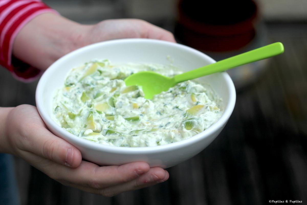 Avocat au fromage blanc et herbes